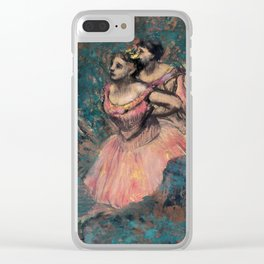 Edgar Degas - Three Dancers in Red Costume Clear iPhone Case