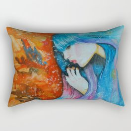 Melted in Blue Rectangular Pillow