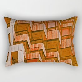 Architectural Abstract in Red Rectangular Pillow