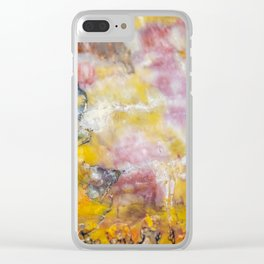 Petrified Wood Art Clear iPhone Case
