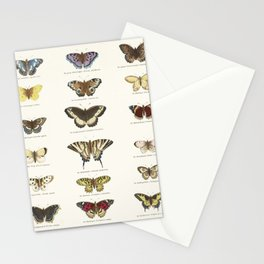 Vintage Butterfly Chart Stationery Cards