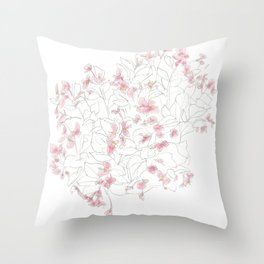 Flors Throw Pillow