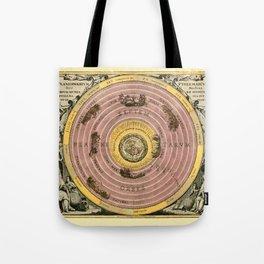 Vintage Constellation Chart 1708b Tote Bag