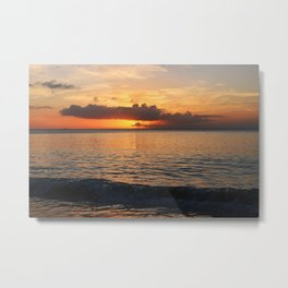 A Cayman Sunset Metal Print