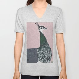 Young Peahen Unisex V-Neck
