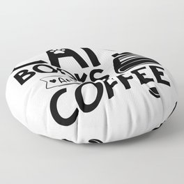 Cats Books Coffee Typography Quote Saying Reading Bookworm Floor Pillow