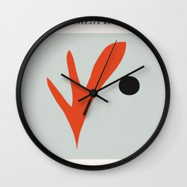Matisse Cutout Poster, Henri Matisse Print, Matisse Exhibition Poster, Matisse Leaf ,wall art decor Wall Clock