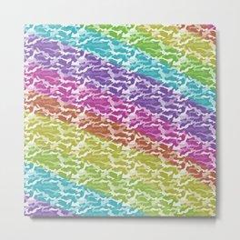 Rainbow Camo Metal Print