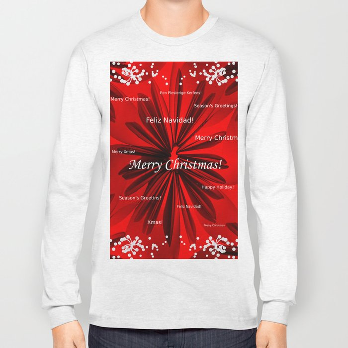 Merry Christmas #decor #homedecor #society6 Long Sleeve T-shirt