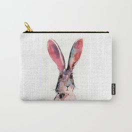 March Hare Watercolor Painting. Carry-All Pouch
