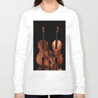 the mortal instruments Long Sleeve T-shirts featuring String Instruments by Simone Gatterwe