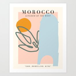 Morocco Exhibition Art Print