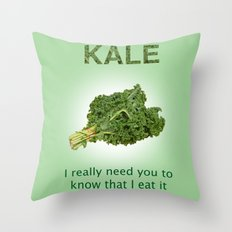 Kale Throw Pillow