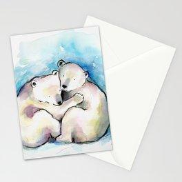 Polar Bear Cubs Watercolour Stationery Cards