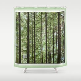 YOUNG FOREST Shower Curtain