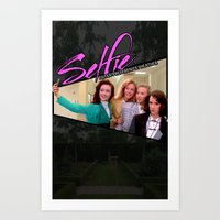heathers Art Prints featuring THE HEATHERS TAKE A #SELFIE by Mikey Pop Designs