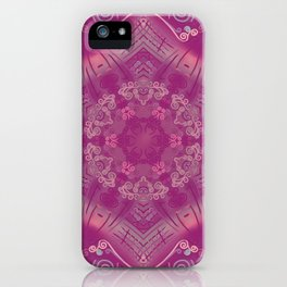 Cherry Mandala iPhone Case