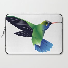 Multi-Color Abstract Hummingbird Laptop Sleeve