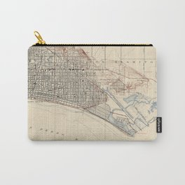 Vintage Map of Long Beach California (1923) Carry-All Pouch