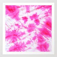 Pink Tie dye Art Print