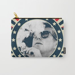 Cigar Smoker Cigar Lover Vote JFK Gifts Black And White Photo Carry-All Pouch