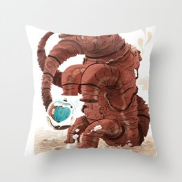 Space Brontosaurus  Throw Pillow