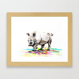 Sudan the last male northern white rhino Framed Art Print