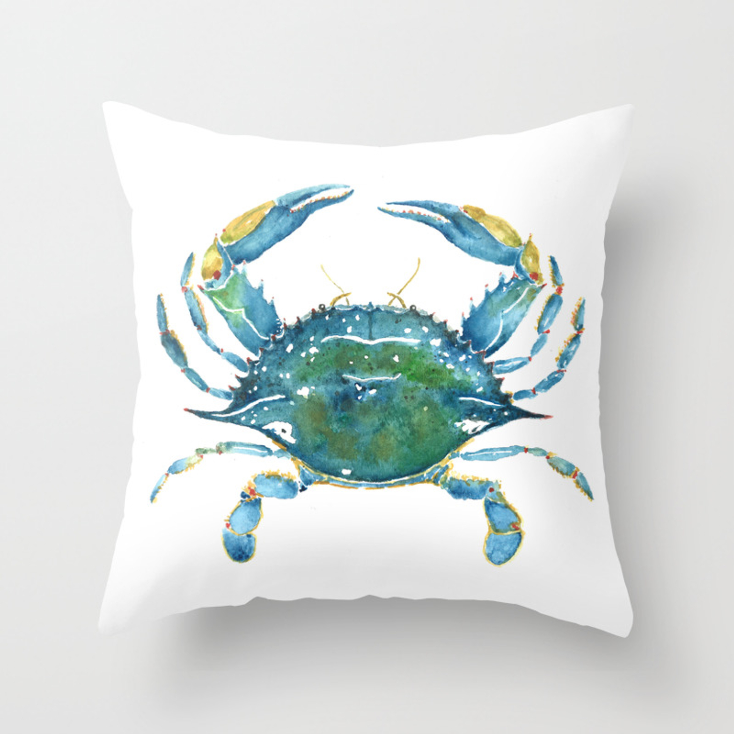 Blue Crab Throw Pillow By Slateandsea Society6
