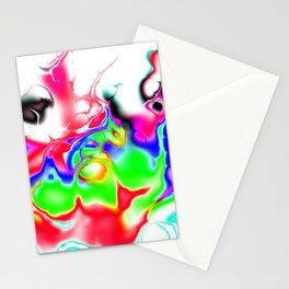 Vivid bright fractal 2 Stationery Cards