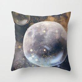Bubble Moon Throw Pillow
