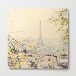 the Eiffel tower from atop Montmartre, Paris ... Metal Print