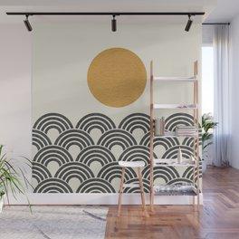Sun & Wave - Oriental Pattern Wall Mural