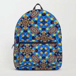 Beautiful Bright Beadwork Inspired Print Backpack