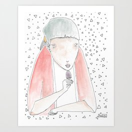 Melacholicpop Art Print