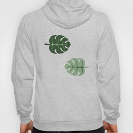 Tropical leaves Monstera deliciosa beige Hoody