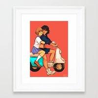 kill la kill Framed Art Prints featuring Kill la Kill print by Beverly Johnson