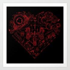 Robotic Heart Art Print