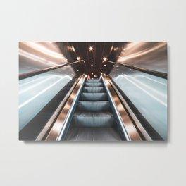 Fast Escalator Metal Print