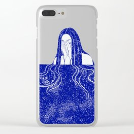 She Weeps Blue Clear iPhone Case