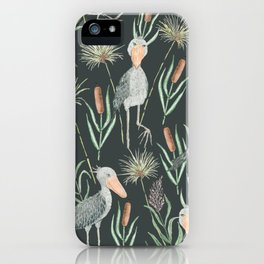 The Magnificent Shoebill Pattern iPhone Case
