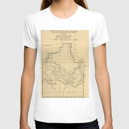 Vintage Map of The Grand Canyon (1908) T-shirt