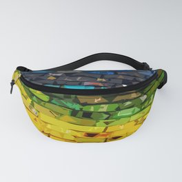 Polychromatic Spiral Fanny Pack