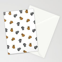 Yellow & Gray Dog Stationery Cards