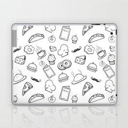 Food Food Black & White Laptop & iPad Skin