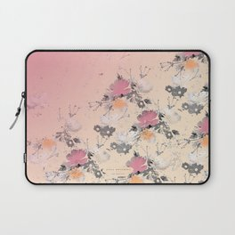 ombre floral - all Laptop Sleeve