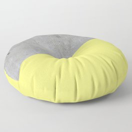 Concrete and Yellow Color Floor Pillow