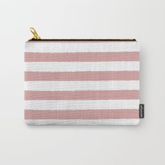 Mauve and white stripes - classy college student collection Carry-All Pouch