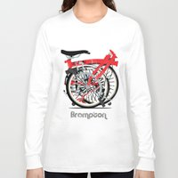 brompton Long Sleeve T-shirts featuring Brompton Bike by Wyatt Design
