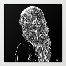 Hair in Black Canvas Print