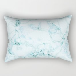 Aqua marine and white faux marble Rectangular Pillow